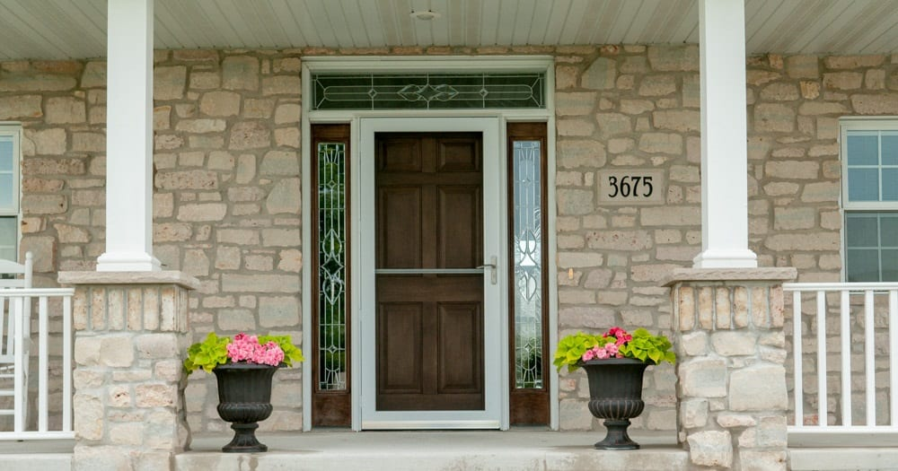 Bellevue Thin Stone Veneer Exterior Entry