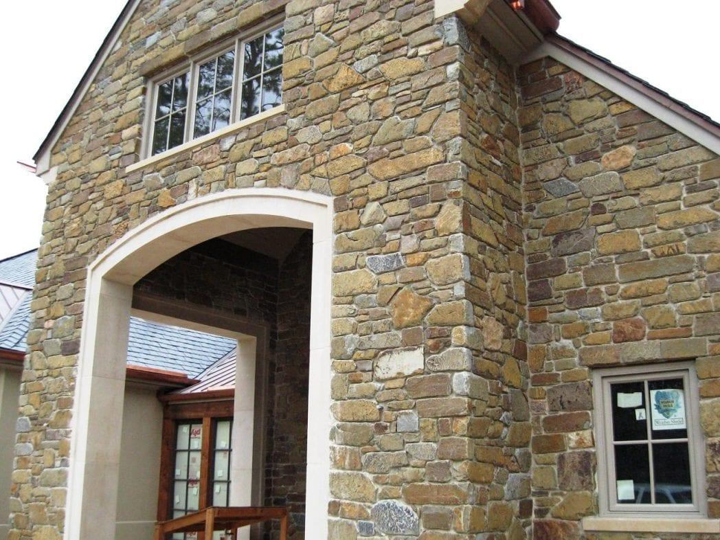 Cabernet Natural Stone Veneer Exterior