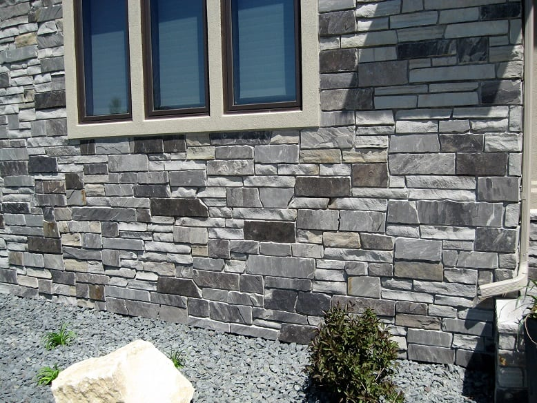 Charcoal Canyon Natural Stone Veneer Residence