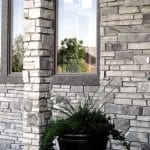 Charcoal Stone Veneer Exterior