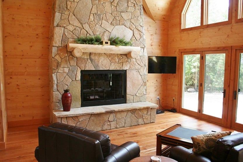 Chateau Thin Stone Fireplace