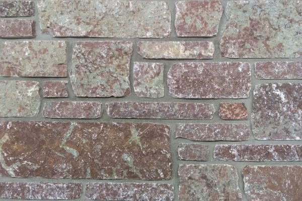 Red Dimensional Style Real Stone Stone Veneer