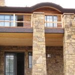 Colonial Natural Stone Veneer Pillars