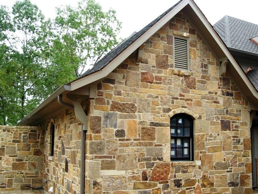 Colonial Natural Stone Veneer Residence