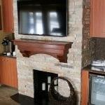 Door County Ledge Stone Interior Fireplace