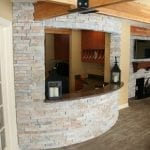 Custom Ledge Stone Welcome Desk