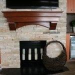 Door County Ledge Thin Stone Fireplace