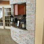Custom Ledgestone Office Interior