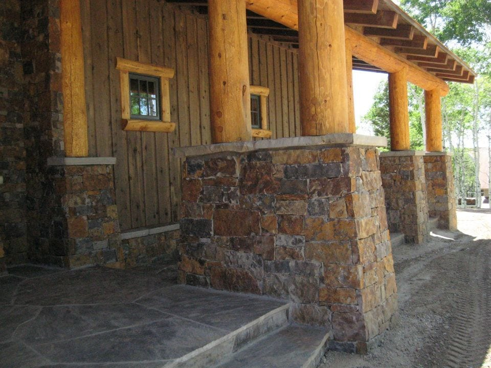 Denali Natural Stone Veneer Entrance