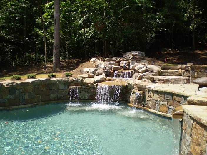 Denali Natural Stone Veneer Outdoor Living Pool