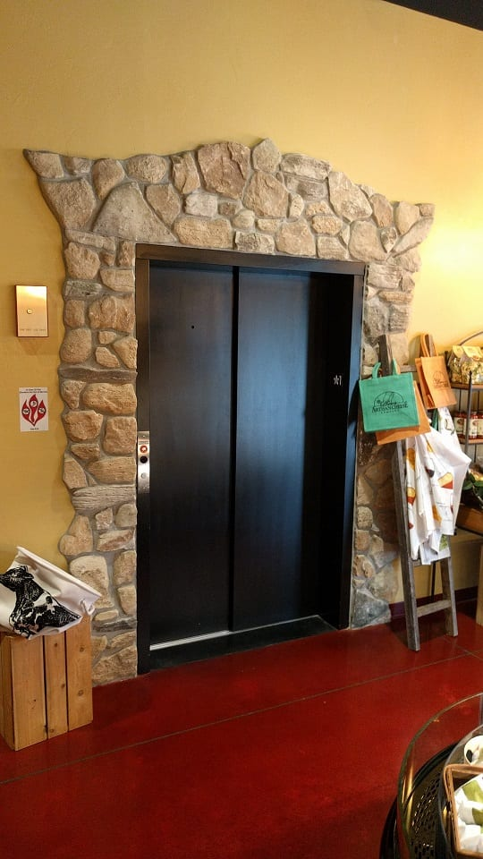 Door County Fieldstone Natural Stone Veneer Elevator