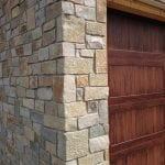 Custom Thin Stone Veneer Garage Close-Up