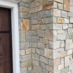 Custom Natural Stone Veneer Garage Close-Up