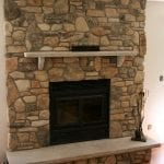 Fireplace Renovation Featuring Door County Fieldstone