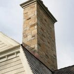 Custom Real Stone Veneer Chimney