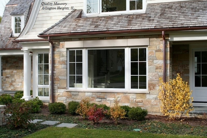 Door County Real Stone Veneer Exterior