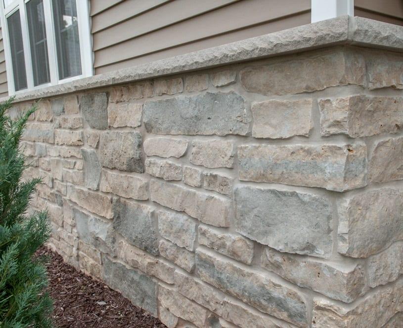 Harbor Springs Real Stone Veneer Wainscotting