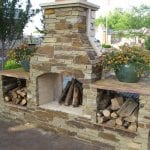 Heritage Outdoor Thincut Stone Fireplace