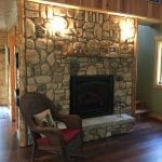 Door County Fieldstone Natural Stone Veneer Fireplace