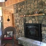 Door County Fieldstone Thin Stone Veneer Fireplace