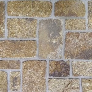 Gold Tone Real Blocky Thin Stone Veneer
