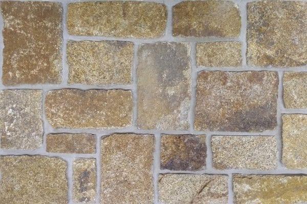 Gold Tone Real Blocky Thin Stone Veneer