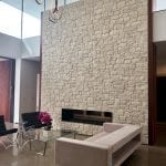 La Spezia Natural Stone Veneer Indoor Fireplace