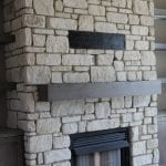 La Spezia Natural Thin Stone Veneer Interior Fireplace