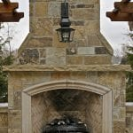 Oak Canyon Outdoor Stone Fireplace