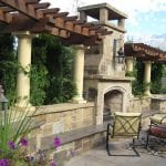 Oak Canyon Natural Thin Stone Veneer Outdoor Fireplace