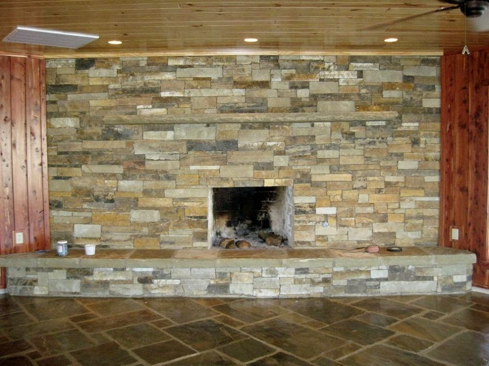Mayfair Natural Thin Stone Veneer Fireplace