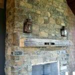 Rainier Natural Stone Veneer Fireplace