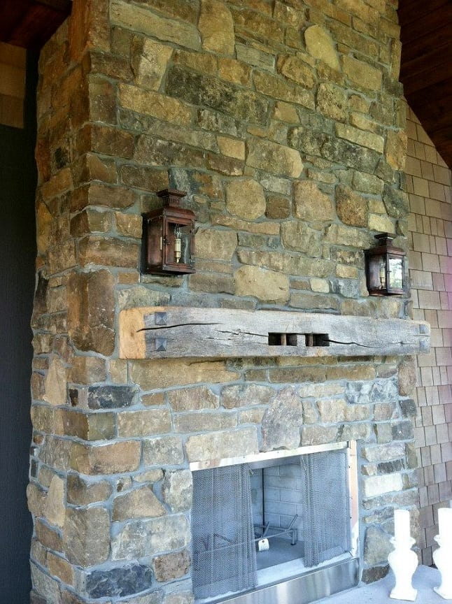 Rainier Natural Stone Veneer Fireplace