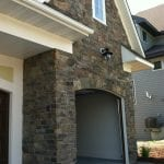 Rainier Natural Stone Veneer Garage