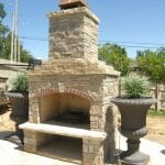 Stonegate Natural Stone Veneer Outdoor Living Fireplace