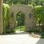 Tuscan Antique Natural Stone Veneer Exterior Gate