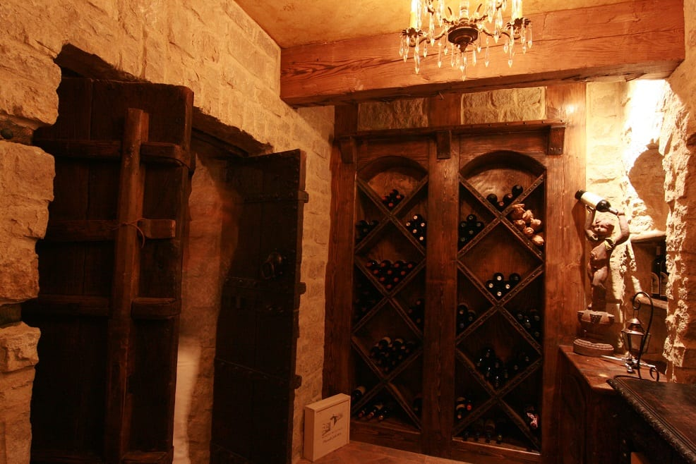 Tuscany Natural Stone Veneer Wine Cellar