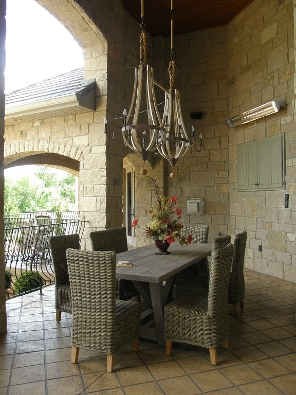 Victoria Natural Stone Veneer Outdoor Living Space