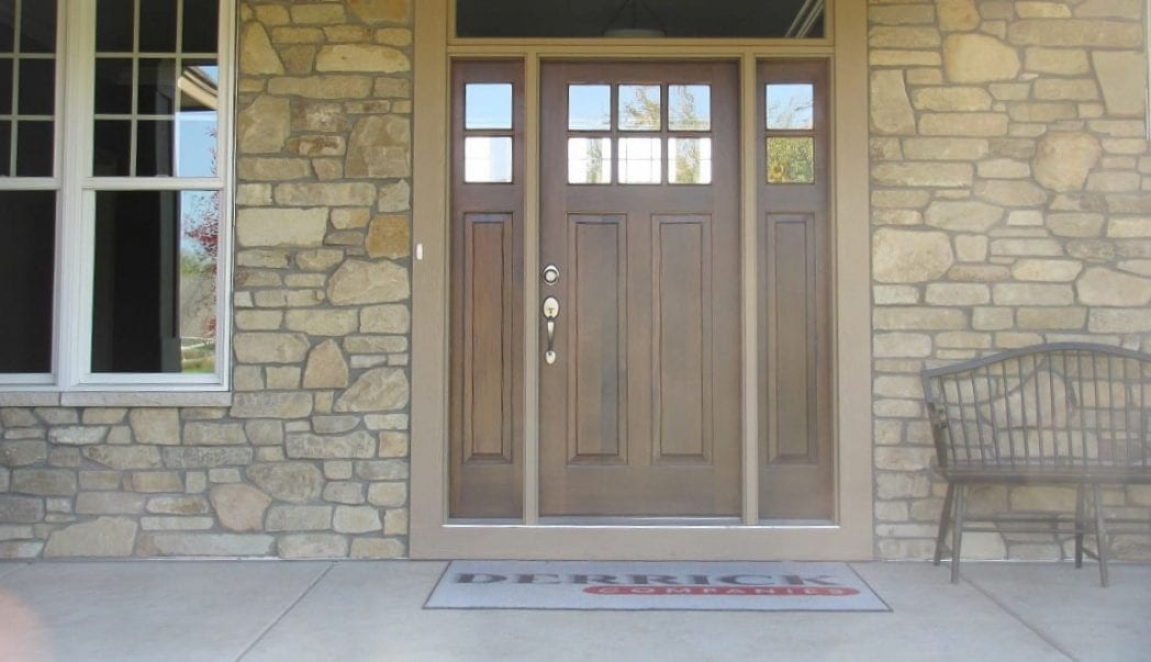 Custom Winchester Natural Stone Veneer Entrance with Irregular Pieces