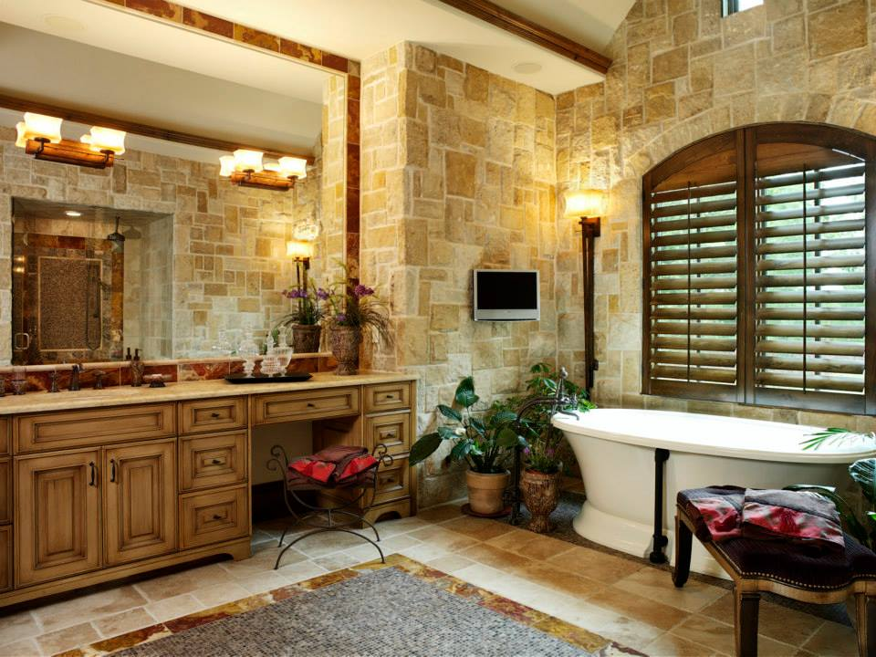 Belvedere Natural Thin Stone Veneer Interior Bathroom Wall