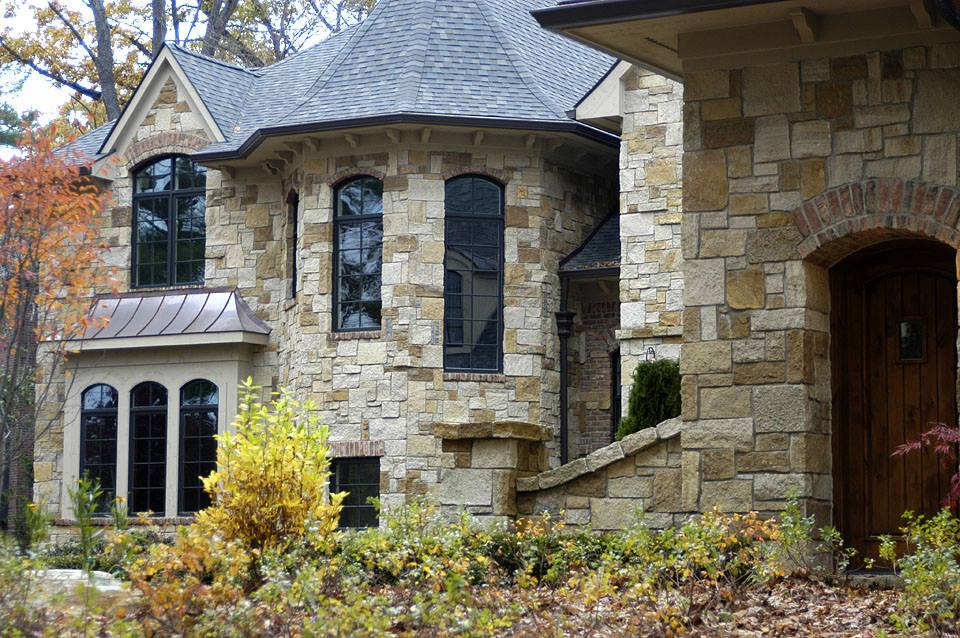 Belvedere Natural Thin Stone Veneer Exterior Home