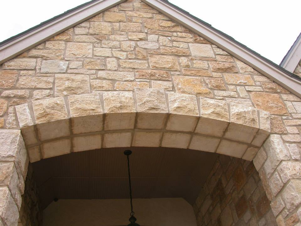 Belvedere Natural Thin Stone Veneer Exterior Entry
