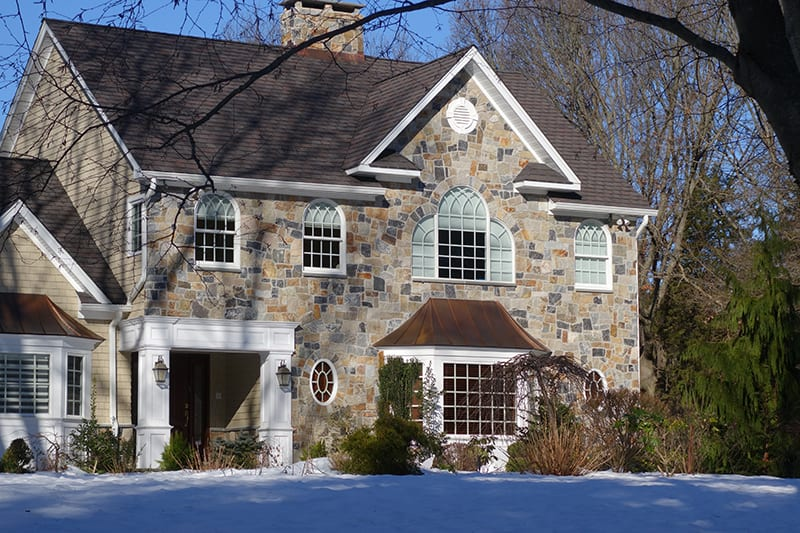 Boston Natural Stone Veneer Home Exterior