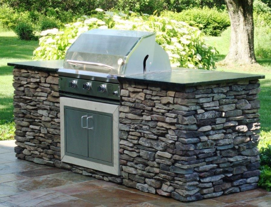 Cape Cod Natural Stone Veneer Outdoor Living