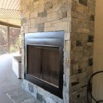 Charleston Natural Stone Veneer Outdoor Fireplace