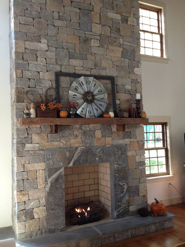 Salem Natural Thin Stone Veneer Fireplace