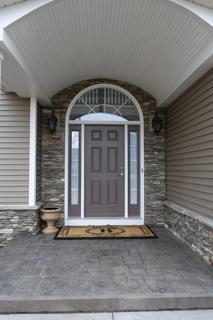Silverton Natural Thin Stone Veneer Entrance Drystack