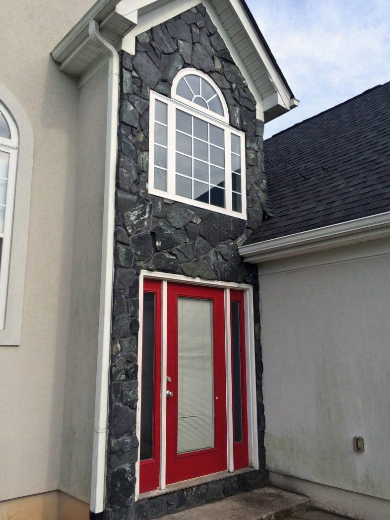 Black Sands Natural Stone Veneer Exterior