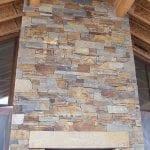 Elkhorn Natural Thin Stone Veneer Fireplace
