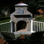 Ellsworth Natural Stone Veneer Fireplace